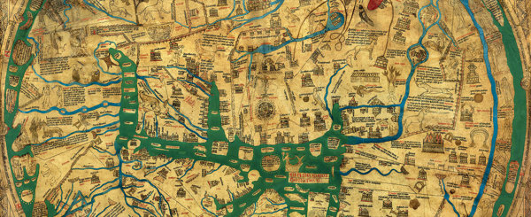 A detail from the Mappa Mundi