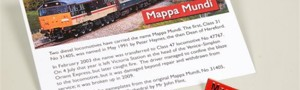 Locomotive Mappa Mundi pin badge