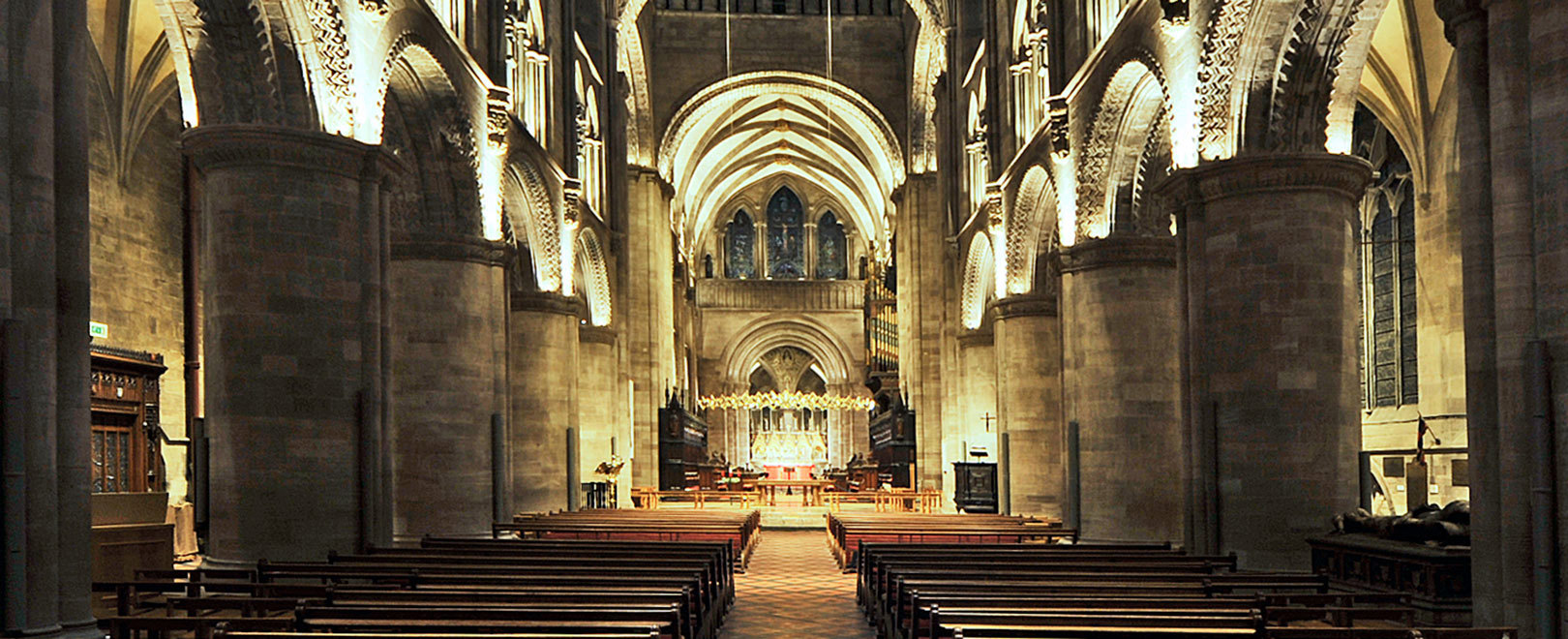 The interior of Hereford Cathedral